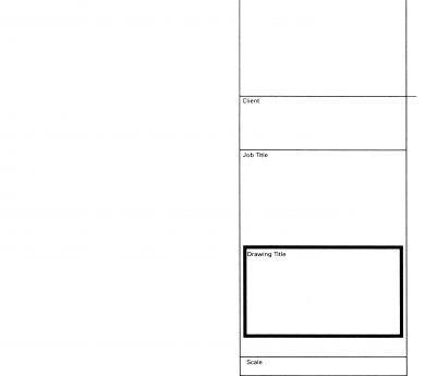 Pre-printed Drawing Sheets